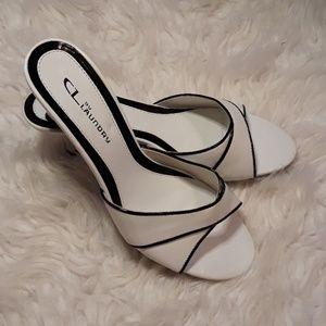 NWOT black & white heels